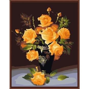 Sonnenblumen ölbilder, diy malen nach zahlen neue blumen-design gx6392