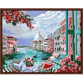 heißer verkauf Landschaft handwerk geschenk färbung von zahlen diy großhandel handwerk gx6401