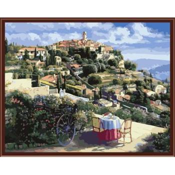 Abstrakte Natur landschaftsbild malerei auf leinwand Öl malen nach zahlen, leinwand Ölgemälde gx6364