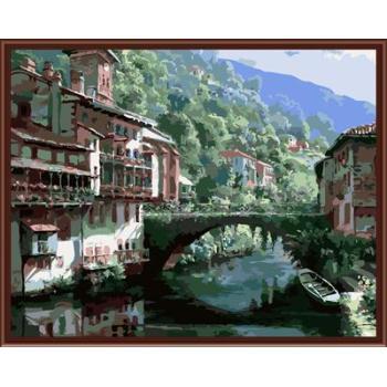 Stadtlandschaft Bild malerei auf leinwand Öl malen nach zahlen, leinwand Ölgemälde gx6373