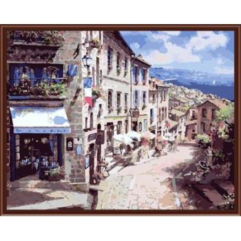 Stadtlandschaft Bild malerei auf leinwand Öl malen nach zahlen, leinwand Ölgemälde gx6371