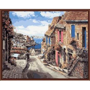 Abstrakte stadt landschaftsbild malerei auf leinwand Öl malen nach zahlen, leinwand Ölgemälde gx6367