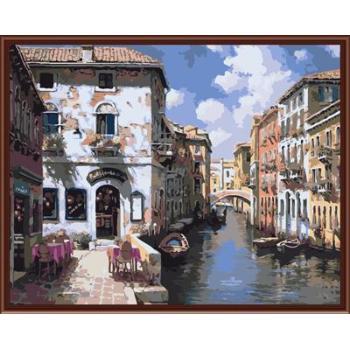 Stadtlandschaft Bild malerei auf leinwand Öl malen nach zahlen, leinwand Ölgemälde gx6372