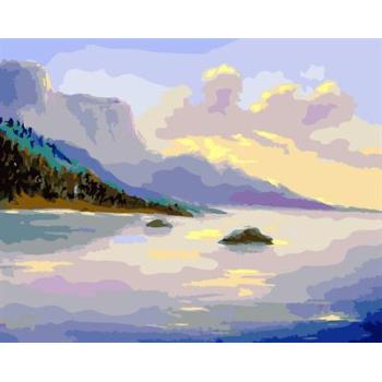 Ölgemälde kit malerei für Anfänger gesetzt gx6598 yiwu fabrik abstrakte naturel Landschaft seascape leinwand Ölgemälde