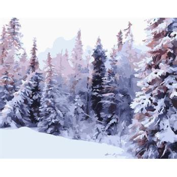 gx6605 yiwu fabrik abstrakte naturel landschaft leinwand Ölgemälde schnee Wald design