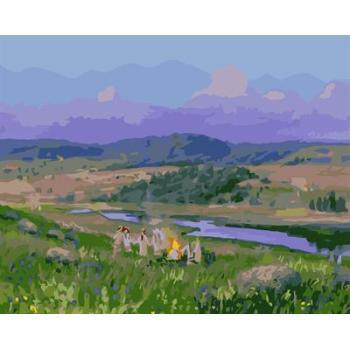 Ölgemälde kit malerei für Anfänger gesetzt gx6599 yiwu fabrik abstrakte naturel Landschaft seascape leinwand Ölgemälde