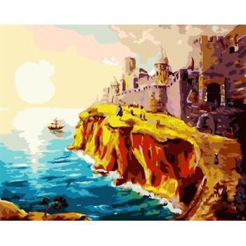 abstrakte digitale malen nach zahlen mit Sonnenaufgang sascape design gx6654