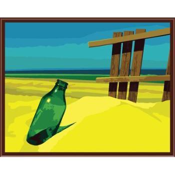 stillleben Sandstrand und flaschendesign abstrakten Öl malen nach zahlen gx6540