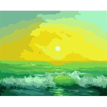 leinwand malen nach zahlen gx6559 seelandschaft Sonnenaufgang design