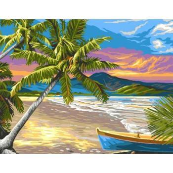 abstrakten Öl malen nach zahlen gx6696 yiwu kunst lieferanten seelandschaft