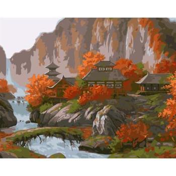 Landschaft canvs Ölfarbe durch die anzahl gx6682 yiwu kunst lieferanten