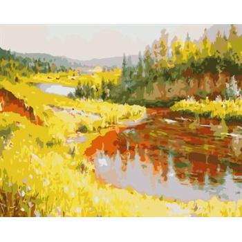 Abstrakten Öl gemälde von nummer naturel Dorf design-kit malerei für Anfänger gx6604 gesetzt