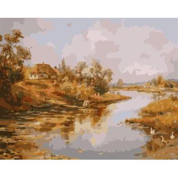 gx6610 yiwu fabrik abstrakte naturel landschaft leinwand Ölgemälde Dorf landschaft malerei kunst lieferanten