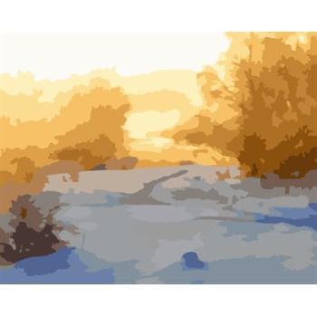 gx6608 yiwu fabrik abstrakte naturel landschaft leinwand Ölgemälde Dorf landschaft malerei kunst lieferanten