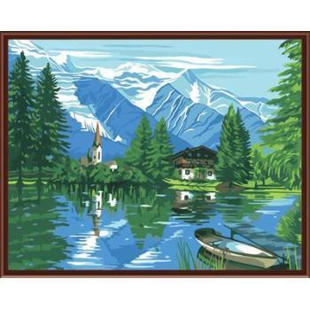 Malen nach zahlen auf leinwand mit Natur, landschaft gx6516factory neues design 2015