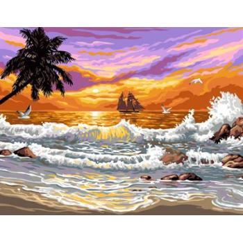 abstrakten Öl malen nach zahlen gx6699 yiwu kunst lieferanten naturel seelandschaft