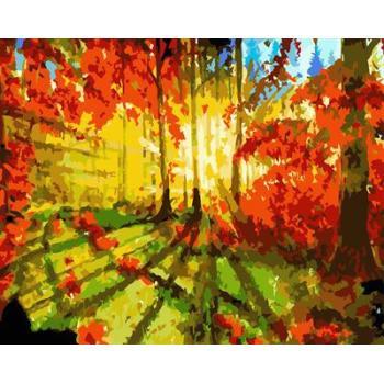 Sonnenuntergang Waldlandschaft Öl leinwand malen nach zahlen gx6646 malen Junge en71-123, ce