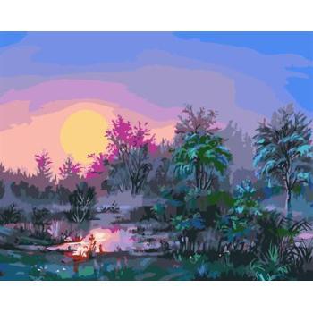 naturel landscpe Ölgemälde kit malerei für Anfänger gx6584 gesetzt