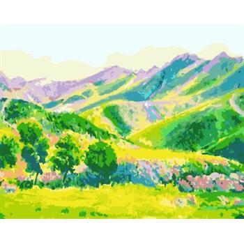 gx6607 yiwu fabrik abstrakte naturel landschaft leinwand Ölgemälde Dorf landschaft malerei kunst lieferanten