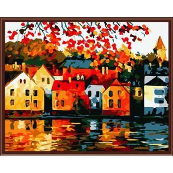 abstrakte cnvas Ölgemälde handmaded malen nach zahlen gx6761 2015 fctory neues design Stadt Landschaft