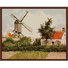 Natur, landschaft, handbemalte Ölbild auf leinwand gemälde von nummer gx6408 yiwu kunst lieferanten