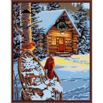 handmaded malen nach zahlen gx6831 schnee haus Landschaft