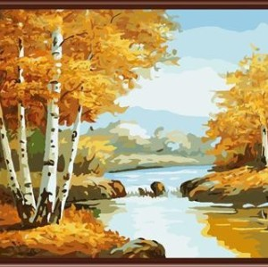 GX6822 2015 new oil painting by numbers landscape canvas oil painting