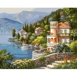 gx6915 abstrakten Öl malen nach zahlen Dorf landschaft wohnkultur Wohnzimmer Ölbilder