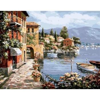 gx6917 abstrakte Stadt Landschaft Öl malen nach zahlen wohnkultur Wohnzimmer Ölbilder