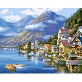 malen nach zahlen auf canvs seelandschaft Landschaft abstrakten malerei gx6936