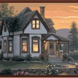 oil painting by numbers yiwu paint boy brand factory new design GX6842 home landscape