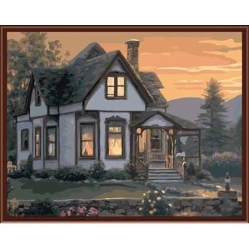 Öl malen nach zahlen yiwu malen junge marke fabrik neues design gx6842 Hause Landschaft