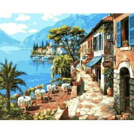 malen nach zahlen auf canvs seelandschaft Landschaft abstrakten malerei gx6935