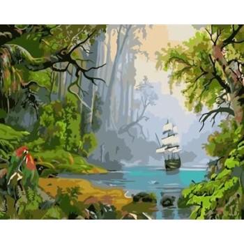 abstrakte leinwand Öl malen nach zahlen naturel Landschaft yiwu großhandel gx6950 malen junge marke