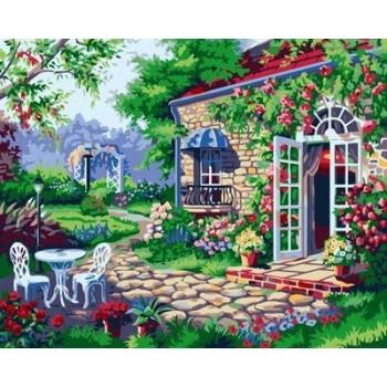 Öl malen nach zahlen Gartenlandschaft blume bild auf leinwand gx6960 malen junge marke