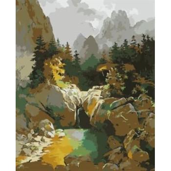 Öl malen nach zahlen mädchen naturel Landschaft acryl handmaded malerei auf leinwand gx6994 paintboy marke