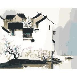 diy bild nach zahlen acryl Ölmalerei für schlafzimmer gx7137 2015 neue heiße chinesischen stadt Landschaft Wald foto