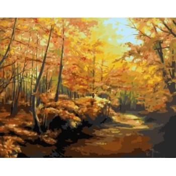 diy bild nach zahlen acryl Ölmalerei für schlafzimmer gx7136 2015 neue heiße Landschaft Wald foto