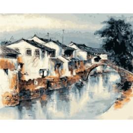 diy bild nach zahlen acryl Ölmalerei für schlafzimmer gx7138 2015 neue heiße chinesischen stadt Landschaft Wald foto