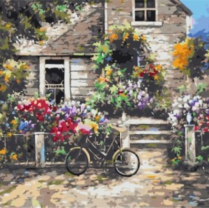 diy painting by numbers for bedroom GX7143 2015 new hot photo garden landscape oil paitning
