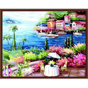 diy Ölbild von zahlen kunst set für zu hause dekor landschaft 2015 heißen foto gx6807