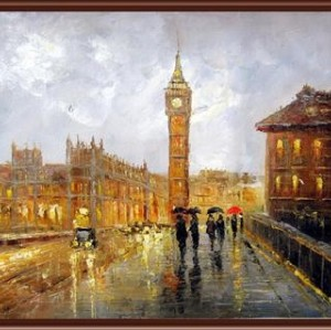 handmaded painting by numbers GX6838 city landscape canvas oil painting