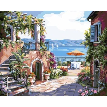 kunst lieferanten leinwand Öl malen nach zahlen abstrakte landschaft gx7174