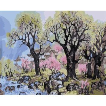 diy Öl malen nach zahlen kit mit Baum bild auf leinwand gx7184