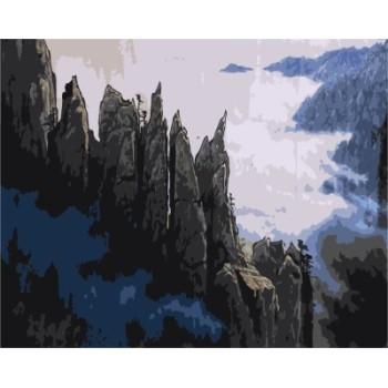 malen nach zahlen auf leinwand naturel Landschaft für horm dekor gx7181