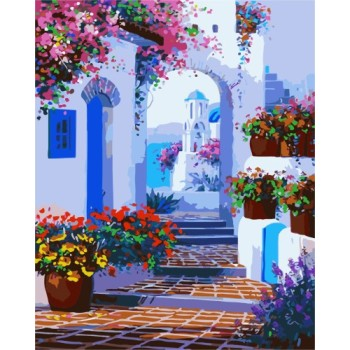 2015 new landscape canvas oil painting by numbers for home decor GX7213