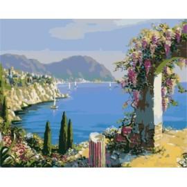 Modernen landschaft acryl Ölmalerei nach zahlen auf leinwand für hotel-lobby dekoration gx7234