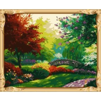 naturel Landschaft acryl leinwand kunst gesetzt Öl malen nach zahlen für großhandel gx7244