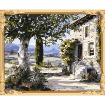 gx7335 yiwu kunst lieferanten Landschaft diy Öl malen nach zahlen für wohnkultur