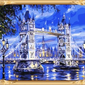 GX7336 yiwu art suppliers canvas oil painting by numbers for home decor